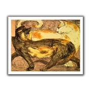 ArtWall 'Two Cats' by Franz Marc Canvas Poster; 40'' H x 52'' W