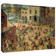 ArtWall 'Childrens Games' by Pieter Bruegel Painting Print on Wrapped Canvas; 24'' H x 32'' W