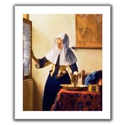 ArtWall 'Young Woman with a Water Jug' by Johannes Vermeer Canvas Poster; 36'' H x 30'' W