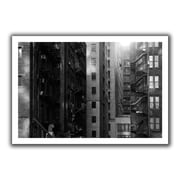 ArtWall 'Buildings' by John Black Canvas Poster; 28'' H x 40'' W