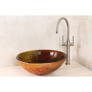 Kingston Brass Fauceture Amber Drops Glass Round Bathroom Sink