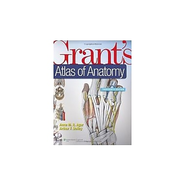 Grant's Atlas of Anatomy, 13th Edition, New Book (9781608317561)