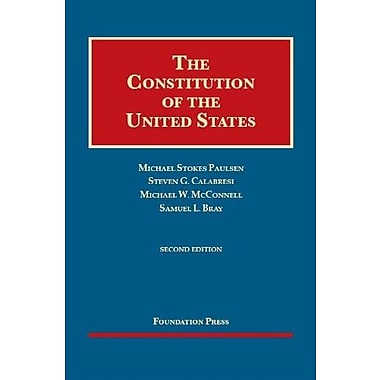 The Constitution of the United States (University Casebook Series), New Book (9781609302719)