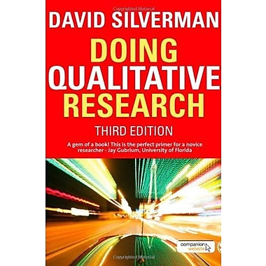 Doing Qualitative Research, New Book (9781848600348)