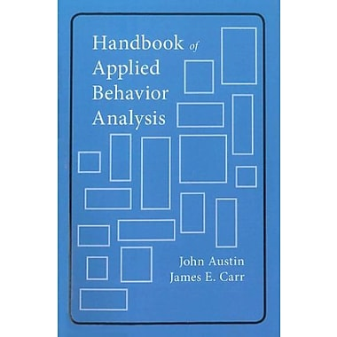 Handbook of Applied Behavior Analysis, New Book (9781878(978349)