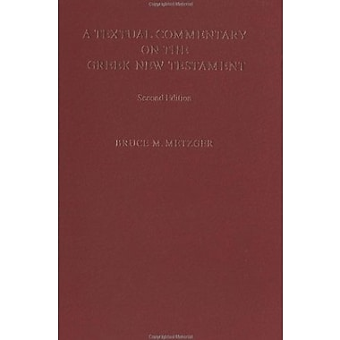 A Textual Commentary on the Greek New Testament, Used Book (9783438060105)