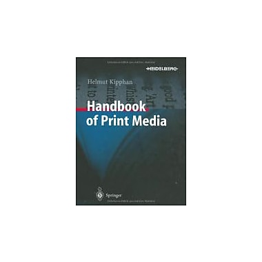 Handbook of Print Media, New Book (9783540673262)