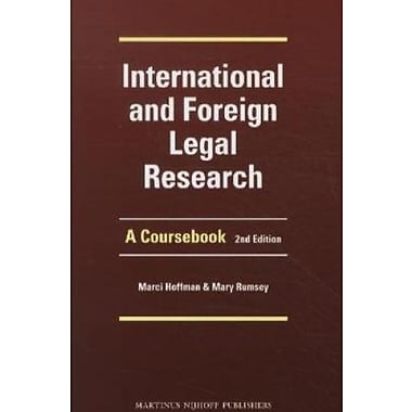 International and Foreign Legal Research: A Coursebook, Used Book (9789004204805)