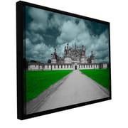ArtWall 'Castle' by Revolver Ocelot Framed Graphic Art on Wrapped Canvas; 12'' H x 18'' W x 2'' D