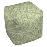 Thumbprintz Funky Florals Swirl Pattern Ottoman; White
