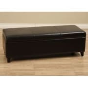 Warehouse of Tiffany Sharon Bedroom Bench; Dark Brown