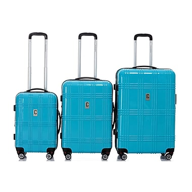 Champs Flight Collection 3-Piece Hardside Spinner Set, Blue
