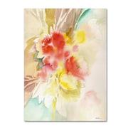 """Trademark Fine Art SG5698-C3547GG """"Red Flower Shadows"""" by Sheila Golden 47"""" x 35"""" Frameless Art"""