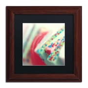 "Trademark Fine Art BC0140-W1111BMF ""Party Flavours"" by Beata Czyzowska Young 11"" x 11"" Framed Art, Black Matted"