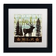 "Trademark Fine Art WAP0121-B1111MF ""Simple Living Elk"" by Michael Mullan 11"" x 11"" Framed Art, White Matted"