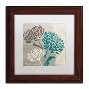 """Trademark Fine Art WAP0135-W-MF """"Chrysanthemums II"""" by Wellington Studio Framed Art, White Matted"""