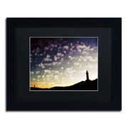 "Trademark Fine Art BC0137-B1114BMF ""On the Way Home"" by Beata Czyzowska Young 11"" x 14"" Framed Art, Black Matted"