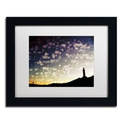 """Trademark Fine Art BC0137-B1114MF """"On the Way Home"""" by Beata Czyzowska Young 11"""" x 14"""" Framed Art, White Matted"""