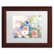 Trademark Fine Art SG5702-W1114MF Mystic Garden by Sheila Golden 11 x 14 Framed Art, White Matted