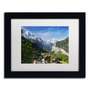 "Trademark Fine Art PSL0295-B1114MF ""A New Day in the Swiss Alps"" by Philippe Sainte-Laudy 11"" x 14"" Framed Art, White Matted"