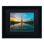 "Trademark Fine Art RV0022-B1114 ""Sunrise in Paris"" by Mathieu Rivrin 11"" x 14"" Framed Art"