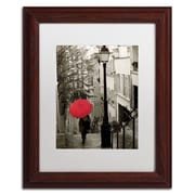 "Trademark Fine Art WAP0133-W-MF ""Paris Stroll II"" by Sue Schlabach Framed Art, White Matted"