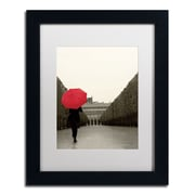 "Trademark Fine Art WAP0132-B1114MF ""Paris Stroll I Feet"" by Sue Schlabach 14"" x 11"" Framed Art, White Matted"