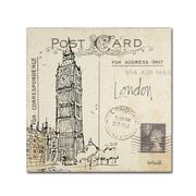 "Trademark Fine Art WAP0091-C2424GG ""Postcard Sketches II"" by Anne Tavoletti 24"" x 24"" Frameless Art"