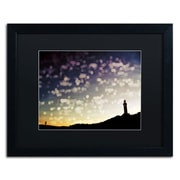 "Trademark Fine Art BC0137-B1620BMF ""On the Way Home"" by Beata Czyzowska Young 16"" x 20"" Framed Art, Black Matted"