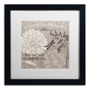 "Trademark Fine Art WAP0101-B1616MF ""French Linen Garden II"" by Daphne Brissonnet 16"" x 16"" Framed Art, White Matted"