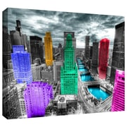 ArtWall 'Chicago' by Revolver Ocelot Photographic Print on Wrapped Canvas; 18'' H x 24'' W