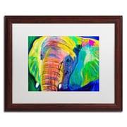 "Trademark Fine Art ALI0578-W1620MF ""Pachyderm"" by DawgArt 16"" x 20"" Framed Art, White Matted"