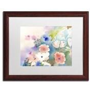Trademark Fine Art SG5702-W1620MF Mystic Garden by Sheila Golden 16 x 20 Framed Art, White Matted