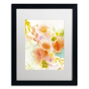 "Trademark Fine Art SG5703-B1620MF ""Orange Reflection"" by Sheila Golden 20"" x 16"" Framed Art, White Matted"