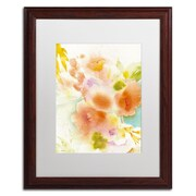 "Trademark Fine Art SG5703-W1620MF ""Orange Reflection"" by Sheila Golden 20"" x 16"" Framed Art, White Matted"