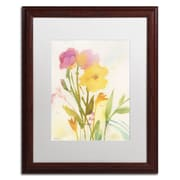 "Trademark Fine Art SG5714-W1620MF ""Wildflowers Against the Sky"" by Sheila Golden 16"" x 20"" Framed Art, White Matted"