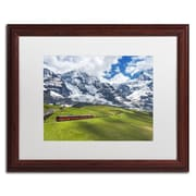 "Trademark Fine Art PSL0297-W1620MF ""Beautiful Switzerland"" by Philippe Sainte-Laudy 16"" x 20"" Framed Art, White Matted"