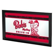 "Trademark Global Bobs Big Boy AR1500-BOB-V 15"" x 27"" Black Framed Logo Mirror, Vintage"