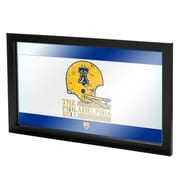 "Trademark Global VAF VAF1500-PB 15"" x 27"" Framed Logo Mirror, Checkered"