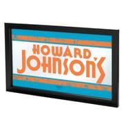 "Trademark Global Howard Johnson AR1500-HOJO 15"" x 27"" Framed Logo Mirror"
