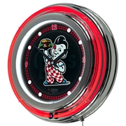 "Trademark Global Bobs Big Boy AR1400-BOB-W 14.5"" Red Double Ring Neon Clock, Wordmark"