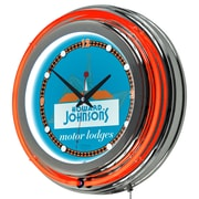 "Trademark Global Howard Johnson AR1400-HOJO-W 14.5"" Orange Double Ring Neon Clock, Wordmark"