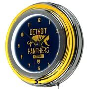 "Trademark Global VAF VAF1400-DP 14.5"" Blue Double Ring Neon Clock, Detroit Panthers"