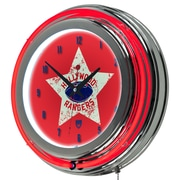 "Trademark Global VAF VAF1400-HR 14.5"" Red Double Ring Neon Clock, Hollywood Rangers"