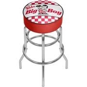 Trademark Global Bobs Big Boy AR1000-BOB-C Steel Padded Swivel Bar Stool, Checkered