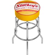 Trademark Global Stuckeys AR1000-STUC-V Padded Swivel Bar Stool, Vintage
