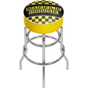 Trademark Global Waffle House AR1000-WAFF-C Padded Swivel Bar Stool, Checkered