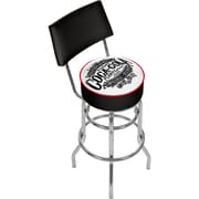 Trademark Global Coca-Cola Brazil COKE-1100-BZ1 Steel 1886 Vintage Pub Stool with Back