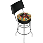 Trademark Global Coca-Cola Brazil COKE-1100-BZ3 Steel Color Splash Coke Bottle Pub Stool with Back