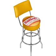 Trademark Global Stuckeys AR1100-STUC-V Steel Padded Swivel Bar Stool, Vintage